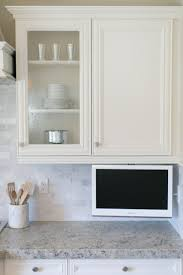 cabinet small tvs for kitchens best kitchen tv ideas wood mode