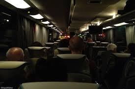 London Bus Interior Night Rider Traveling From London To Paris By Bus Expat Edna