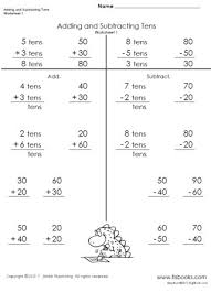 adding and subtracting tens worksheets 1 4