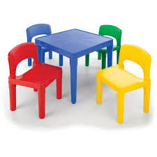 plastic table with chairs tot tutors primary focus table and chair set multiple colors