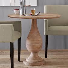 Cafe Tables For Sale by Turned Pedestal Bistro Table West Elm