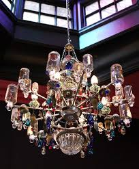 recycled chandeliers an amazing chandelier made of perfume bottles from madeleine