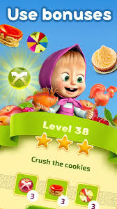 masha bear jam match 3 games kids android apps