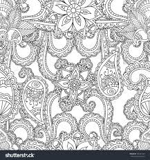coloring pages adults seanless patternhenna mehndi stock vector