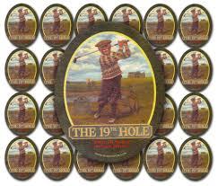 19th hole golf pub sign beer mat coasters pack of 25 u003e pub
