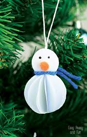 simple snowman ornament kid made ornament easy peasy