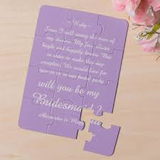 will you be my bridesmaid invitation personalized background and words will you be my bridesmaid puzzle
