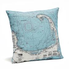 cape cod pillow map from carved lake art nautical gifts u0026 depth