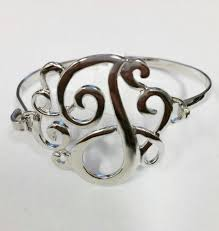 monogram initial bracelet ganz style 101 silver monogram initial bracelet necessities boutique