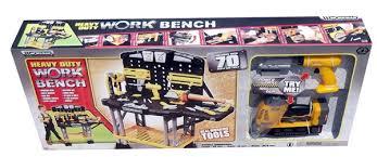 Workman Tool Bench Kid U0027s Workman Heavy Duty Workbench 70 Parts U0026 Tools Power Drill