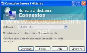 windows xp bureau à distance connexion octetmalin