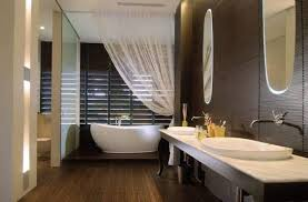 bathroom ideas pictures free spa home bathroom ideas with free standing tub with sheer curtain