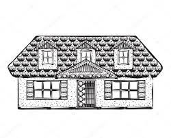 drawing houses drawing houses sketch stock vector yuliia25 92687942