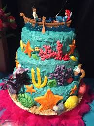 My Grandaughters Lily 6th Ariel Little Mermaid Birthday Cake Cake