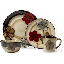 pfaltzgraff painted poppies stoneware 16 dinnerware set