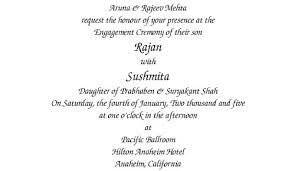 hindu engagement invitations our wording templates madhurash