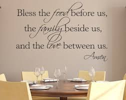 Wall Decals For Dining Room Amen Wall Decal Etsy