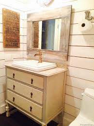 Industrial Style Bathroom Vanity by Farm House Style Bathroom With Ship Lap Walls Faux Painted