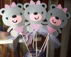 Teddy Bear Centerpieces by Pink Teddy Bear First Birthday Party Or Baby Shower