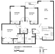 three bedroom floor plans exquisite simple 3 bedroom floor plans 3 bedroom unit