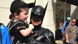 real life batman known for visiting sick kids in the hospital