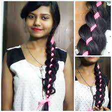 4 strand ribbon braid hairstyle for medium long hair tutorial