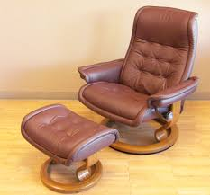royal paloma coffee leather recliner chair