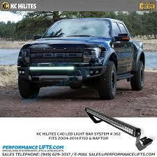 f150 bumper light bar kc hilites ford f150 raptor front bumper 40 led light bar kit 362