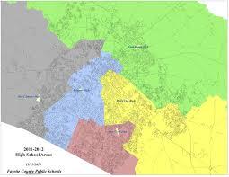 Lexington Ky Map Fayette County Public District High Divisions