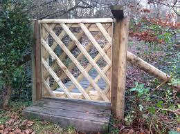 bespoke diamond trellis gate heritage garden services exmouth