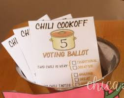 chili cookoff printables digital invitation voting