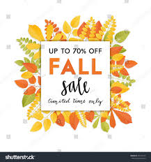 Thanksgiving Leaf Template Autumn Sale Template Fall Background Autumn Stock Vector 470146772