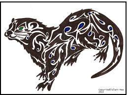 tribal otter totem animal personal art u2014 weasyl