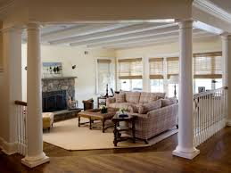 Traditional Living Room Ideas by Living Room Columns With Traditional Living Room With Wooden