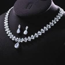 white gold crystal necklace images Zakol white gold plate marquise stone connect flower cubic jpg