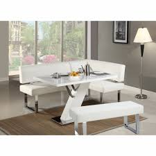 linden 3 piece dining table nook and bench set linden