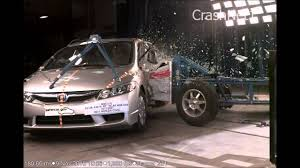 Honda Civic Lenght Honda Civic 2011 Side Crash Test High Speed Camera Nhtsa