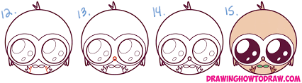 how to draw kawaii chibi rowlet from sun and moon