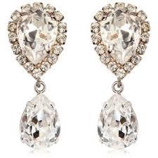 large earrings dolce gabbana women large swarovski drop clip on earrings