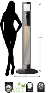 Patio Heater With Light Jupiter Infrared Free Standing Electric Patio Heaters With Spot