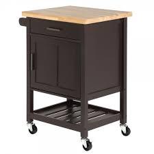 open box homegear compact kitchen storage cart island brown just