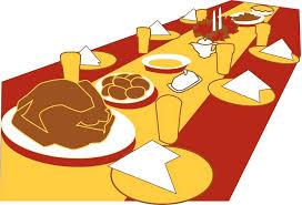 thanksgiving dinner table clipart thanksgiving thanksgiving table 1