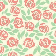 Cute Flower Wallpapers - vector rose seamless flower background pattern floral fabric