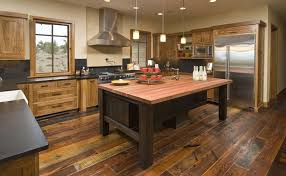 Rustic Flooring Ideas Ascent Your Modern Kitchen With Rustic Embellishment Trends4us