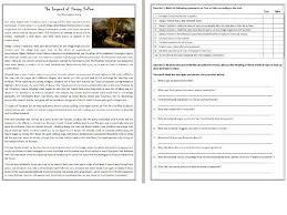 the legend of sleepy hollow reading comprehension worksheet