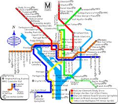 washington subway map washington dc metro rail map virginia and maryland metrorail