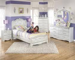 Twin Size Bedroom Sets Ashley Zarollina B182 Twin Size Uph Bedroom Set 6pcs In Silver