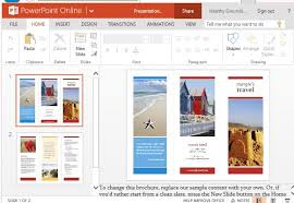 brochure template powerpoint 2010 free brochure templates for