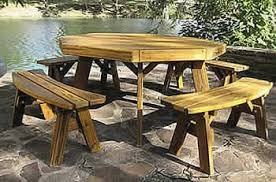 Octagon Patio Table Plans Octagon Picnic Tables Made By Quality Patio Furniture