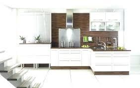 cuisine blanc laqué et bois cuisine blanc laque et bois plan de travail cuisine blanc laquac